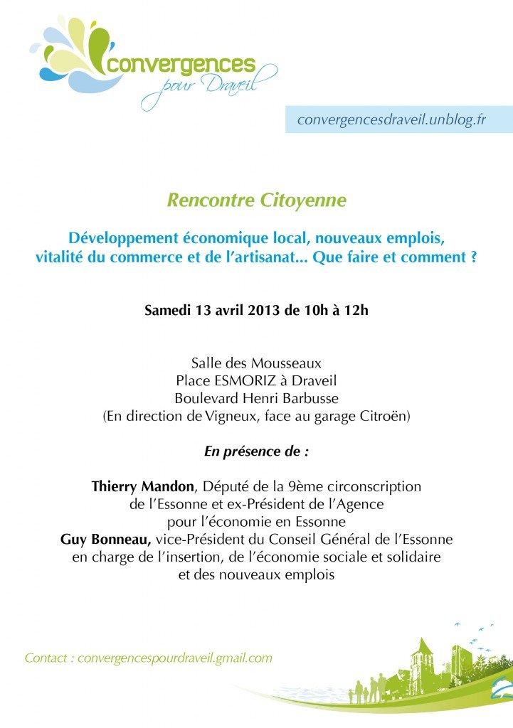 Samedi 13 avril, Economie locale... Que faire et comment? convergences-pour-draveil-2013-a5-recto1